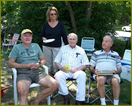 Elmer Wiens, Bea Giesbrecht, Johnny Giesbrecht, Chester Brown