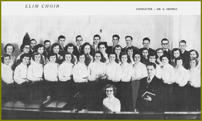 Elim Bible School Students - 1952-53