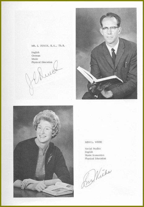 Sharon Mennonite Collegiate Teachers 1964
