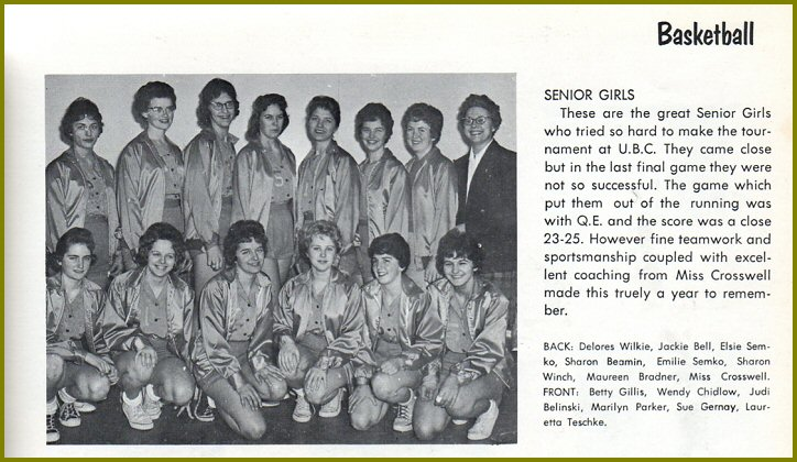 CHS Senior Girls Basketball - 1961