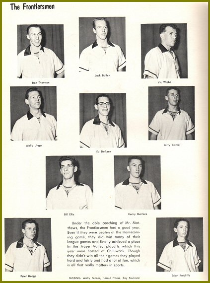 CHS Senior Boys Basketball - 1961