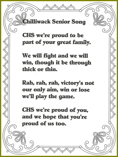 Chilliwack Senior High School Song