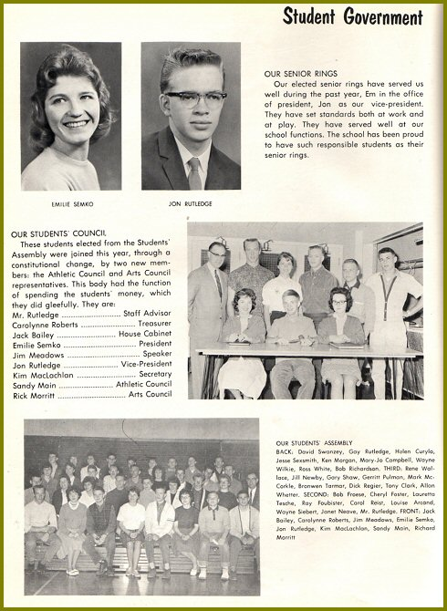 CHS Student Government - 1961