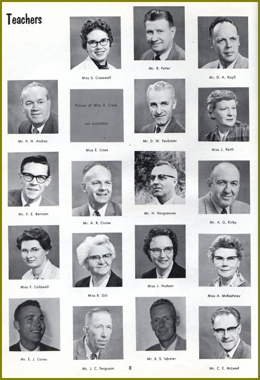 CHS Teachers - 1961
