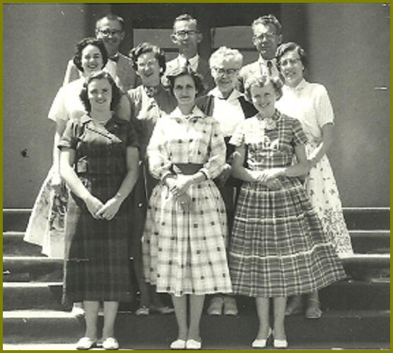Yarrow School Teachers, 1957-58