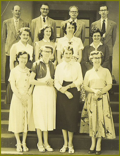 Yarrow School Teachers, 1954-55
