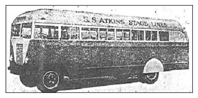 Modern 31-passenger bus of the type that will be used on new Harrison-Chilliwack-Huntingdon route.  Delivery of a similar uuit expected next month